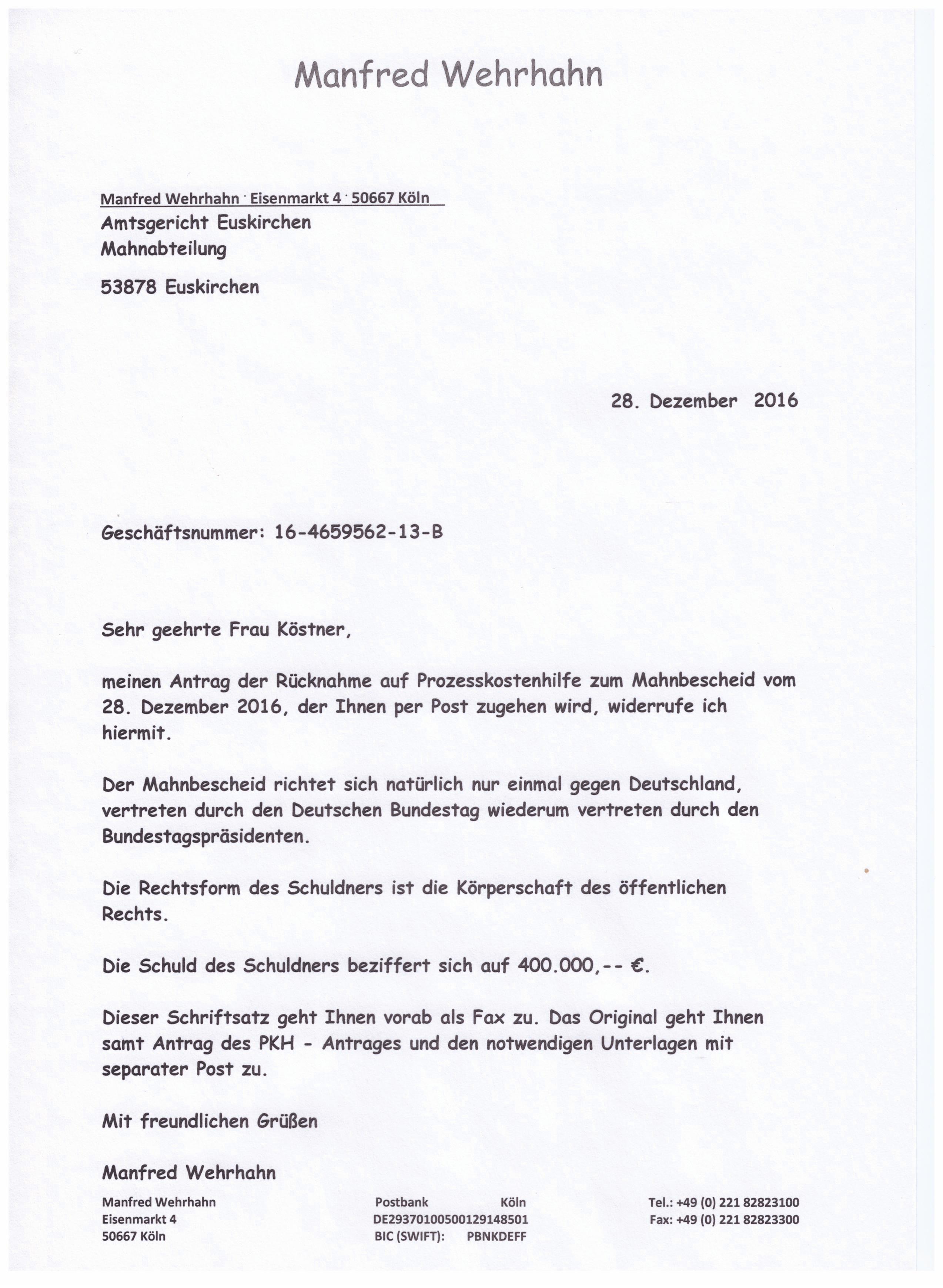 Mahnbescheid Gegen Deutschland Der Deutschlandclan