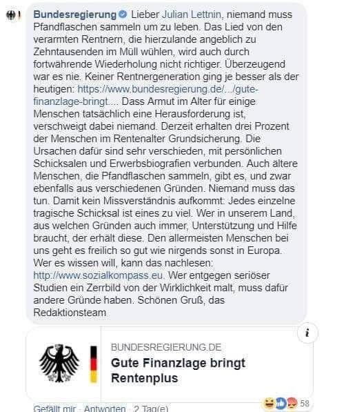 So propagiert die Bundesregierung die Armut in Deutschland!