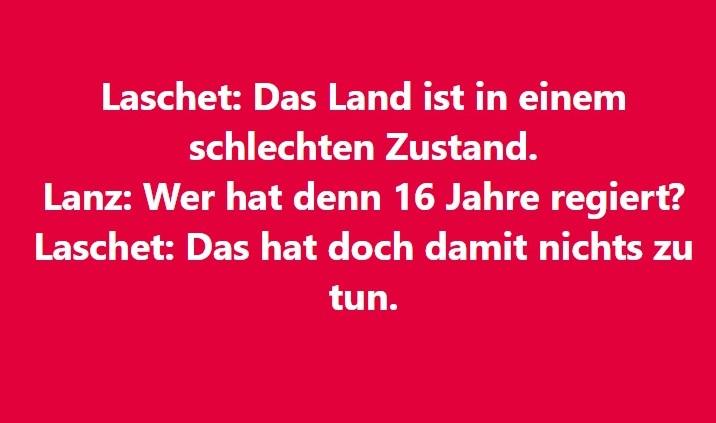 Und wer ist verantwortlich, Herr Laschet: Frau Merkel! Die größte Niete!